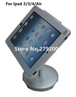 Aluminum Alloy Adjustable Counter Tablet Security Display Stand Holder With Lock And Key For Ipad 2