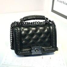 UNstyle Clssic Elegant Diamond Lattice Chain Shoulder Bag Fashion Small Mini Lingge Cover Lock Crossbody Bags Women Bags BG285