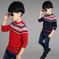 Новорожденный ребенок осень одежда \ волны cut пуловер утолщение рукав все модные подростки свитер вязание пальто WER15
