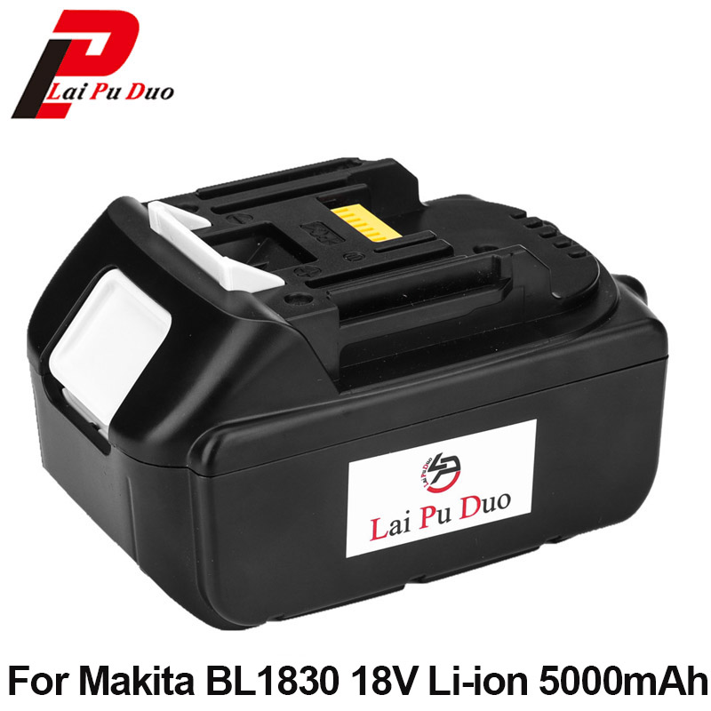 Replacement power tool battery 18v 5.0Ah Li-Ion For MAKITA: BL1830 BL1840 BL1850 LXT400 194230-4 BL1815 Rechargeable Batteries 18v 3 0ah nimh battery replacement power tool rechargeable for ryobi abp1801 abp1803 abp1813 bpp1815 bpp1813 bpp1817 vhk28 t40