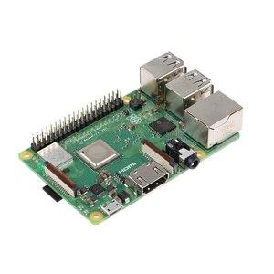 Image 3 - Raspberry original pi 3 modelo b +, (plus) broadcom processador 1.4ghz embutido, processador quad core 64 bits, wifi, bluetooth e porta usb