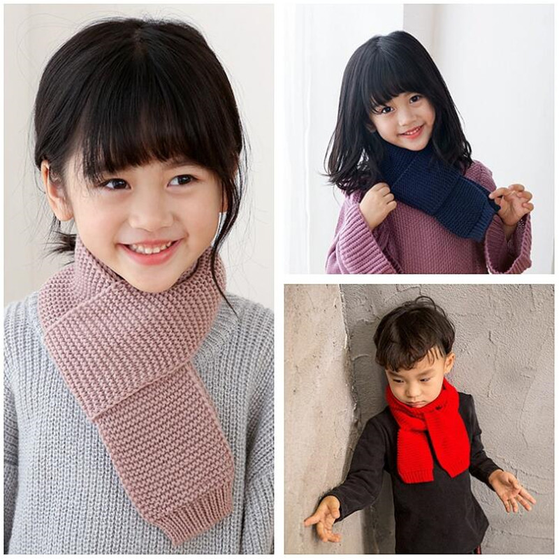 Women's Scarves Yishine 5 Colors 68*8.5 Cm Fashion Children Boys Girls Winter Scarf Kids Baby Warm Neck Scarves Knitting Scarfs