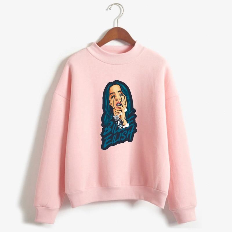 2019 Newest billie eilish pink Hoodies women kpop Sweatshirt Pullover Vogue Hoodie fashion print womens Clothing tops femme bts v warriors jacket