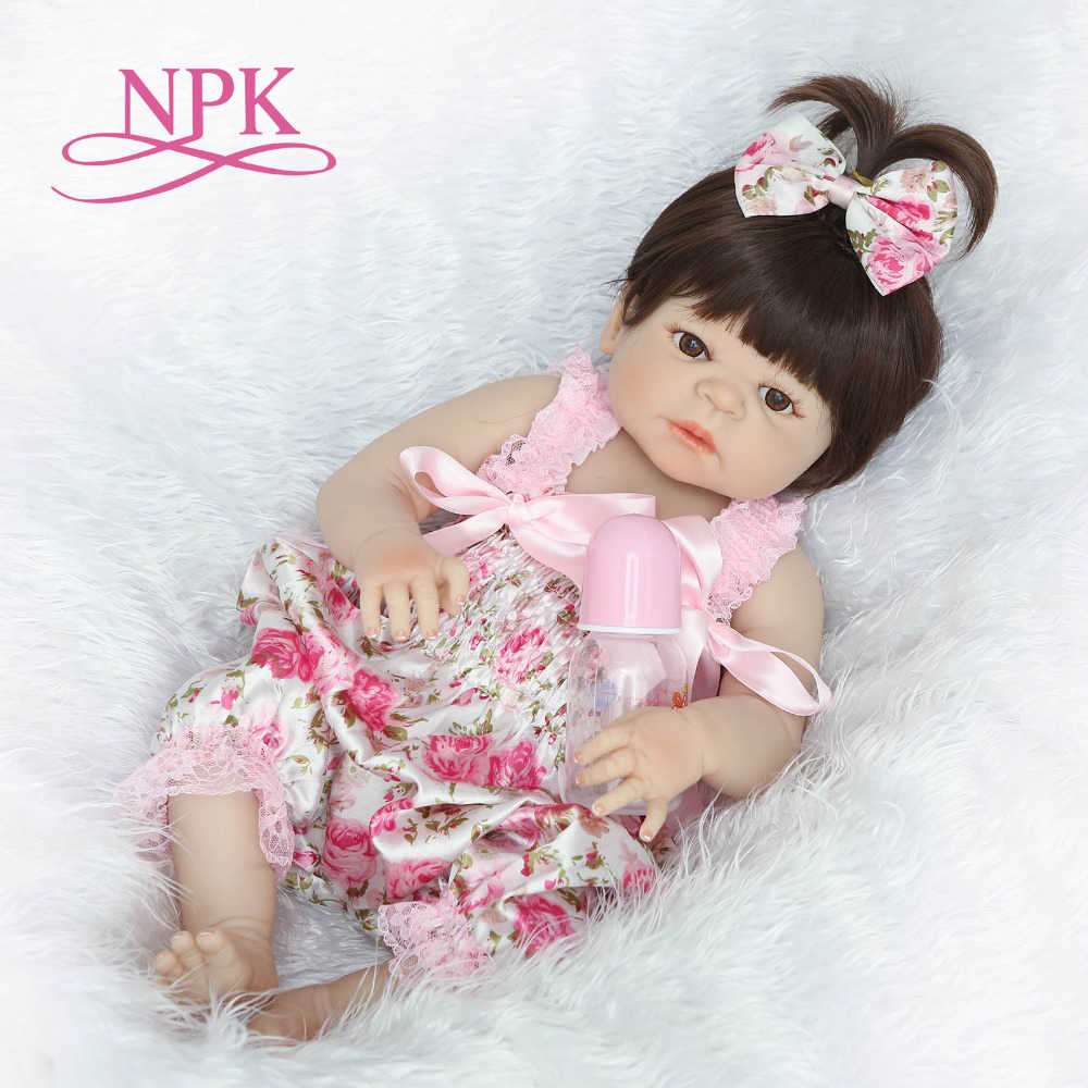 NPK 55 см полное тело силиконовые reborn Baby Doll девочка Newbron реалистичные Baby-Reborn Принцесса Кукла День рождения Рождественский подарок для девочки