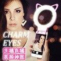 Аккумуляторная USB Заряда с батареей Selfie Портативный Кольцо LED Заполняющий Свет Камера для iPhone Android Телефон