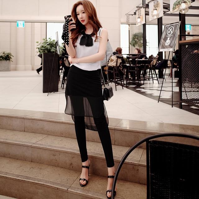Original New 2016 Brand Skirts Pants Summer Style Plus Size Slim Fashion Casual Black Leggings Women Wholesale