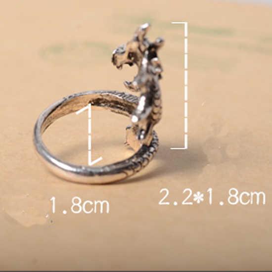 LNRRABC распродажа Новое поступление Подвески Панк Мода Преувеличенные Кольца для мужчин и женщин Винтаж Ретро ювелирные украшения кольцо с драконом подарок