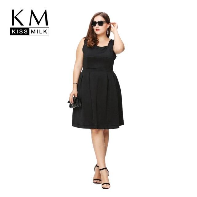 KissMilk 2016 Женщин Плюс Размер A-Line Лето Без Бретелек Старинные Элегантный Большой Большой Размер 3XL 4XL 5XL 6XL Тонкий Dress
