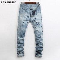 Mens Designer Jeans Men 2017 New  Robin Jeans Brand Robin Jeans Denim With Wings American Flag Jeans TC566