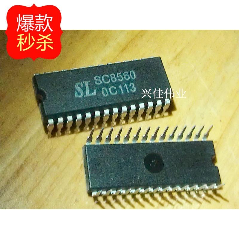 10PCS New original authentic SC8560 -line digital LED display chip electronic quartz clock DIP28