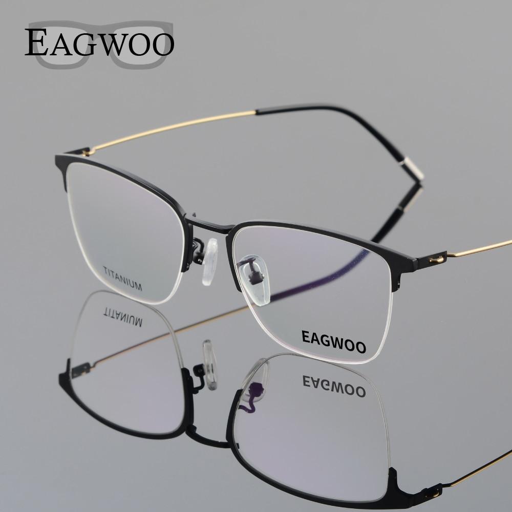 Eagwoo Titan Brillen Halbrand Optischen Rahmen Rezept Schauspiel ...