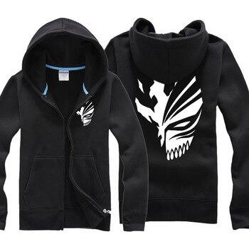 Japanese Anime BLEACH Kurosaki Ichigo Jacket sweatshirts Men Night Lights Hoodie Men Baseball Jackets Death Note Coat hoodies