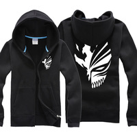 Japanese Anime BLEACH Kurosaki Ichigo Jacket Sweatshirts Men Night Lights Hoodie Men Baseball Jackets Death Note