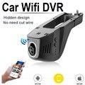 Wi-fi Car DVR Видеорегистраторы Регистратор Даш Камеры Cam Цифровой Видеорегистратор Видеокамера 1080 P Ночь Версия Новатэк 96658 IMX 322 DBL
