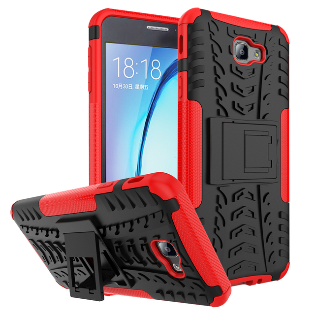 For Samsung Galaxy J7 Prime SM-G6100 TPU & PC Dual Armor Capa Hard Silicone Cover For Samsung Galaxy On Nxt G610F Phone Case