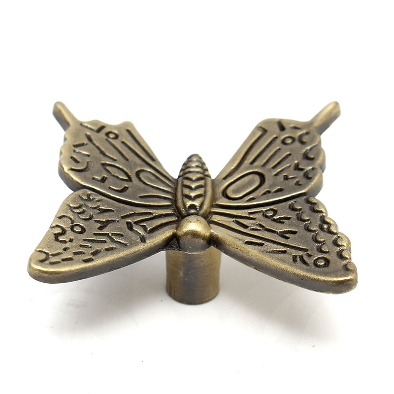 10PCS Euro Vintage Butterfly Cabinet Handles Kitchen Furniture drawer pull knob