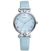 ladies watch woman watches quartz leather Disney Mickey brand female clock diamond waterproof wristwatches Citizen movement