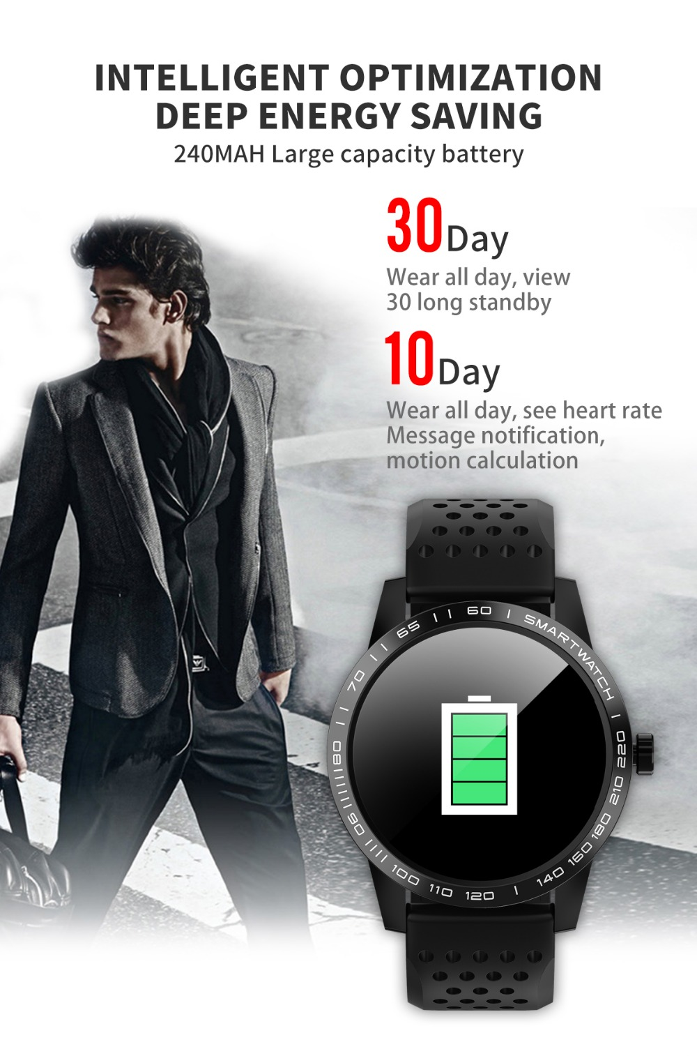 Wearpai T2 bluetooth smart watch men women Fashion Fitness Tracker Heart Rate monitor watches for android ios waterproof ip67 6