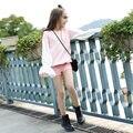 2016 la Caída Del Otoño Niñas Últimas Sudaderas Con Capucha Camisa Shcool Niños Rosa Blanco camisa Ropa para Niños Age56789 10 11 12 13 14 T Años de edad