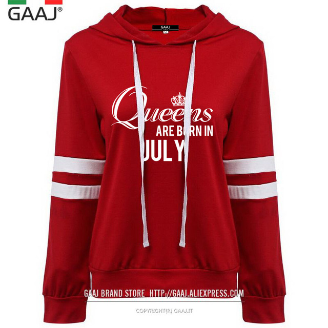 Queens Are Born In October Febuary May Women Hoodies sweatshirts Brand Clothes Print Letter Casual Fashion Queen Hoody Tracksuit
