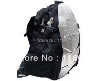 NEW 5 metal plate aluminum backpack Motorcycle Waist packbag Motocross Backpack Racing Backpack fashion ASMK alloy