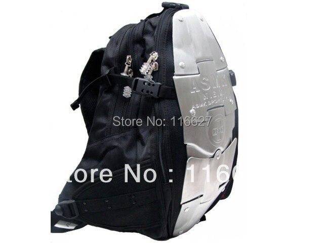 NEW 5 metal plate aluminum backpack font b Motorcycle b font Waist packbag Motocross Backpack Racing