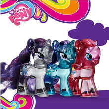 Original My Little Pony Brand Crystal clear Rainbow Dash Pinkie Rarity Toys PVC Action Figure Collectible Model Doll for girls недорого