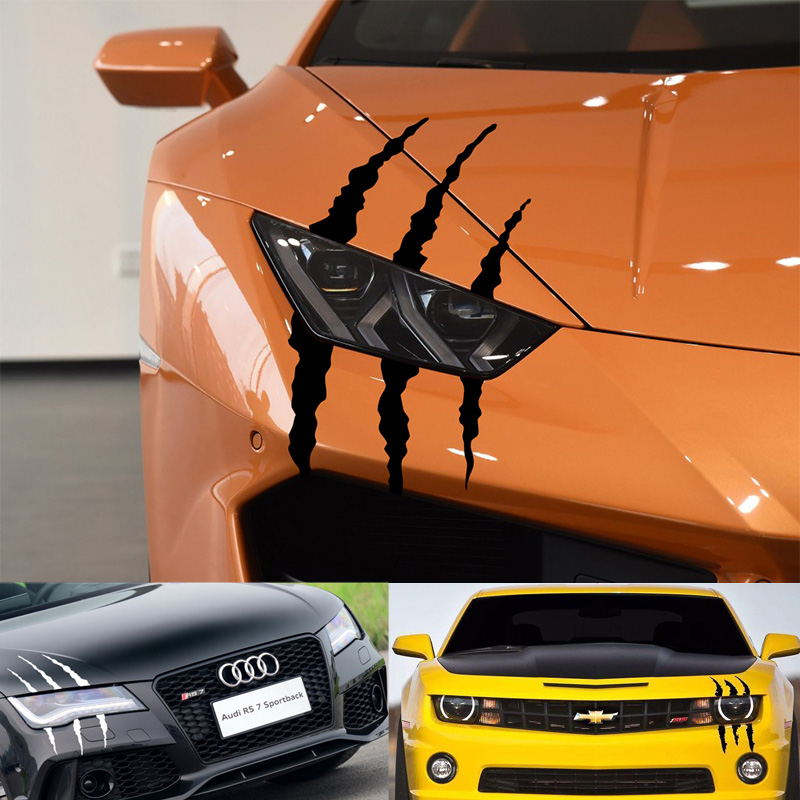 Car Sticker Headlight Fashion Reflective Car Stickers Auto Waterproof Decal For Auto Car Motorcycle Body Styling Accessories-in Car Stickers from Automobiles & Motorcycles