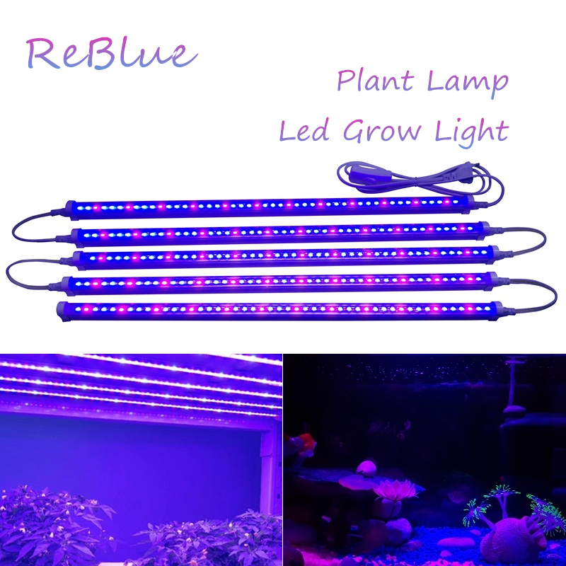 ReBlue Lamp For Plants Grow Light 12W 24W T5 Plant Lamp Full Spectrum Grow Led For Plants Growing Seedling Phyto-Lamp Indoor