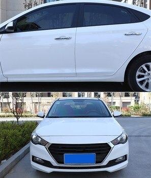Osmrk accesorios del coche del cuerpo del coche Placa de puerta tiras protección para toyota land cruiser prado 2009-2017 LC150 4000, 3500 2700