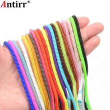 60cm Cute Solid color Wire Cord Rope USB charger Cable Bobbin Winder Data Line Protector earphone Cover Suit Spring Sleeve twine