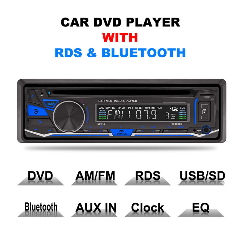 Car DVD Player Car Radio Stereo Player Bluetooth Phone AUX-IN MP3 FM/USB/1 Din/remote control 12V Car Audio Auto Car Electronics тетрадь на клею printio трейсер