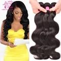 8A Brasileños Virgin Hair Body Wave 4 Bundles Brasileño Onda Del Cuerpo Brasileño Paquetes Armadura Del Pelo Humano Sin Procesar Paquetes de Pelo