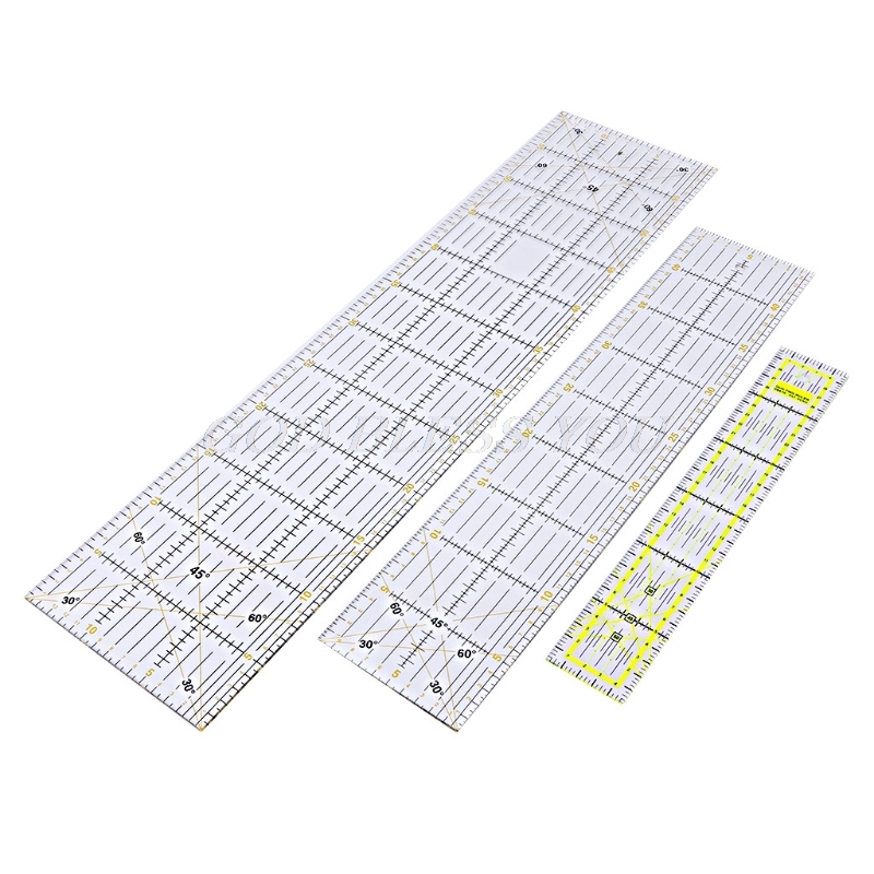 30/45/60cm Quilting Sewing Patchwork Ruler Cutting Tool Thick Transparent DIY