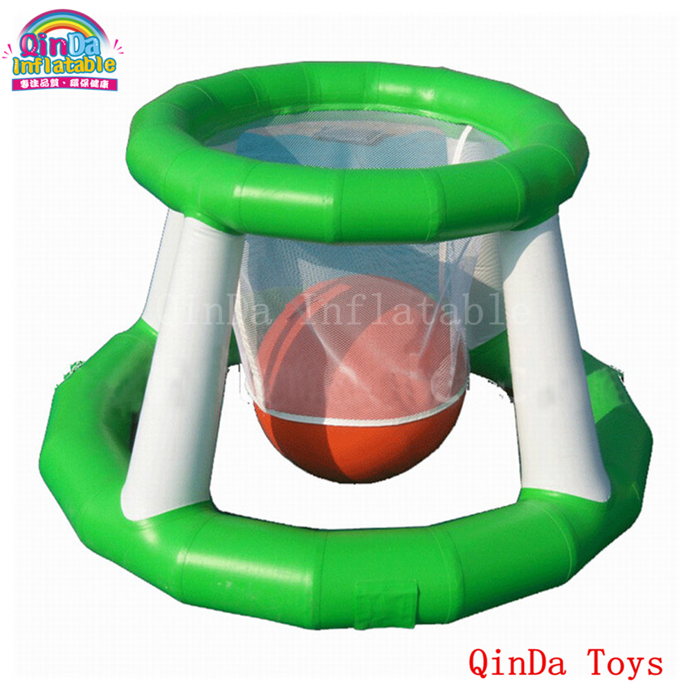 Up1.5mDown1.2m diameter 1.5m height water fun sport ,0.9mm PVC inflatable basketball hoop for sale