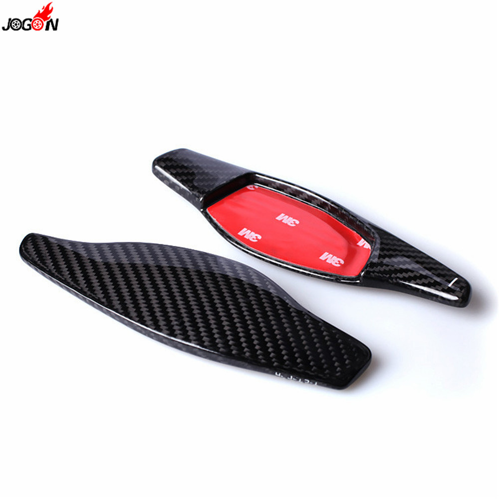 Carbon Fiber Steering Wheel Paddle Shift Extension Shifter Cover Trim For Audi RS3 RS4 2018 RS5