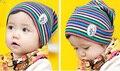 Bebé recién nacido accesorios de fotografía de algodón de rayas niños del sombrero del bebé niños capo de invierno sombreros capo enfant gran