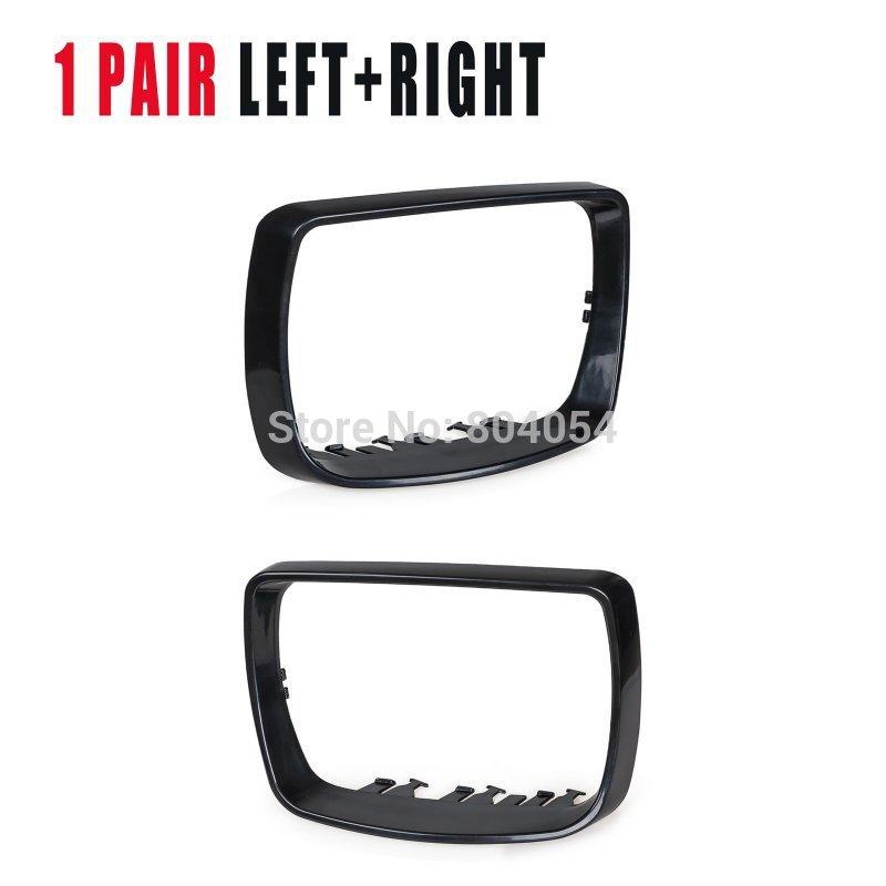 Left+right Mirror Cover Cap Trim Ring For Bmw X5 E53 Ref 51168254903+51168254904