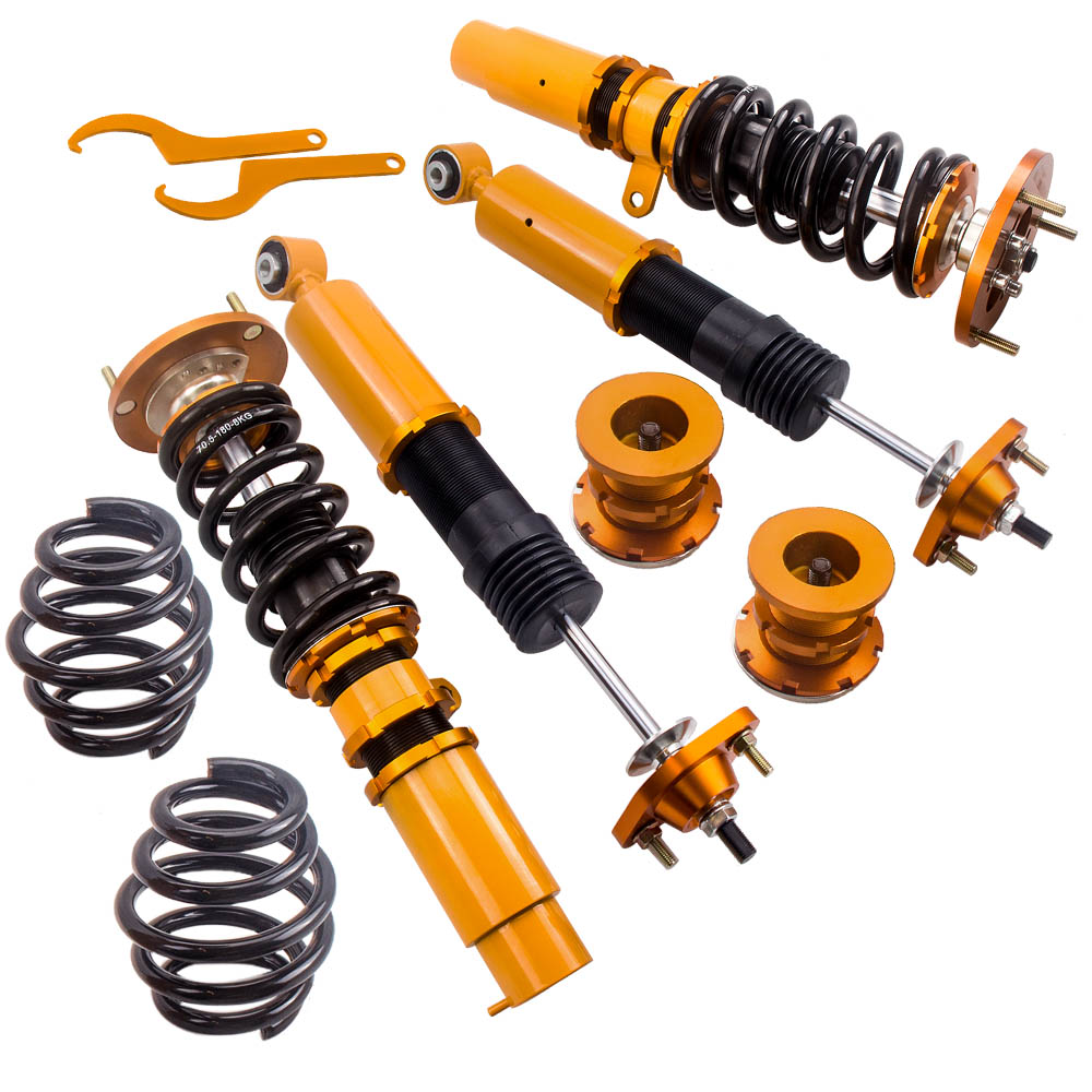 Complete Coilover Shocks for BMW <font><b>E46</b></font> 328 325 330 3 Series 320i 323i 323Ci <font><b>325Ci</b></font> Damper Springs Lowering Blue Adjustable Height image