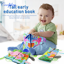 2PCS Baby Soft Tails Cloth Book Touch Rustle Sound Quiet Books Early L