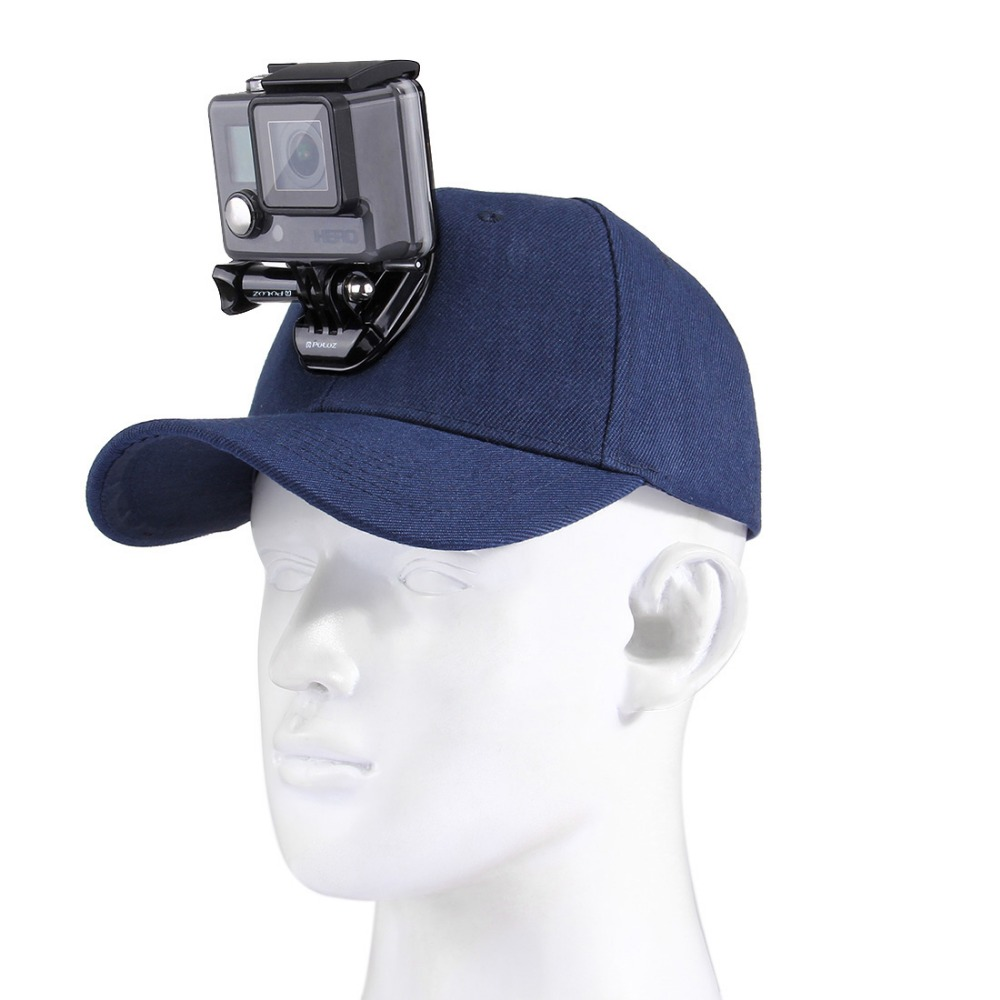 for Go Pro Accessories Canvas Baseball Hat Cap W/ J-Hook Buckle Mount Screw for GoPro HERO5 HERO4 Session HERO 5 4 3+ 3 2