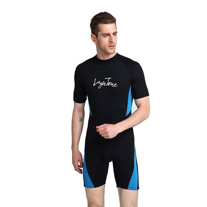 2019 3mm néoprène shorty natation combinaison pour hommes maillot de bain grandes tailles 6XL 5XL maillot de bain noir natation surf plongée combinaison - 3