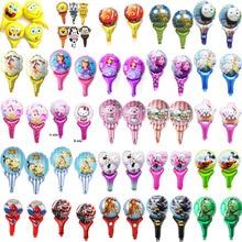 (20pcs/lot) hand cheering party balloons princess spiderman mickey spongebob animals foil for child birthday