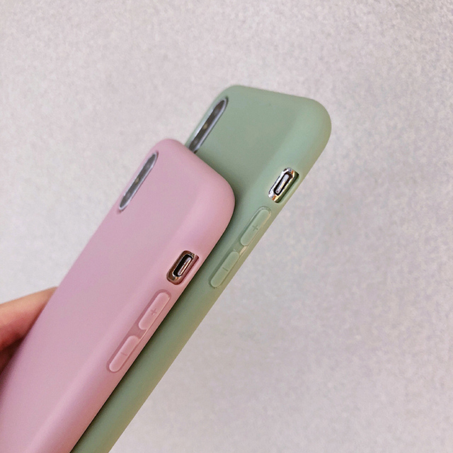 Solid Color Silicone Phone Case