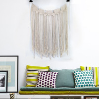 H&D Unique tassels Wall Hanging Handmade Macrame Home Decor Retro Nordic Kids Craft Handcrafted Girls Room Baby Indian Decor