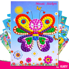 3D DIY Foam Mosaic Crystal Stickers Art EVA Children Puzzle Cartoon Creative Educational Toys For Kid 12 Background Style Select