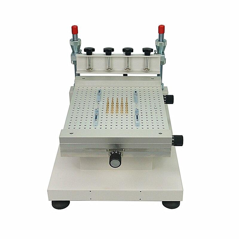 2019 impressora de tela smt de alta precisão impressora de serigrafia impressora de pasta de solda única dupla face placa de circuito colar