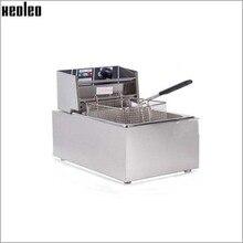 XEOLEO 6L электрическая фритюрница 2500 Вт коммерческих Фрайер French fries чайник курица жарки машины 220 В 200 градусов регулируемый