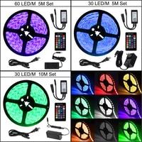 5050 RGB Wifi Controller LED Strip light 5M 30 60 led/m Waterproof ip 65 neon Flexible Tape diode ribbon DC 12V adapter set