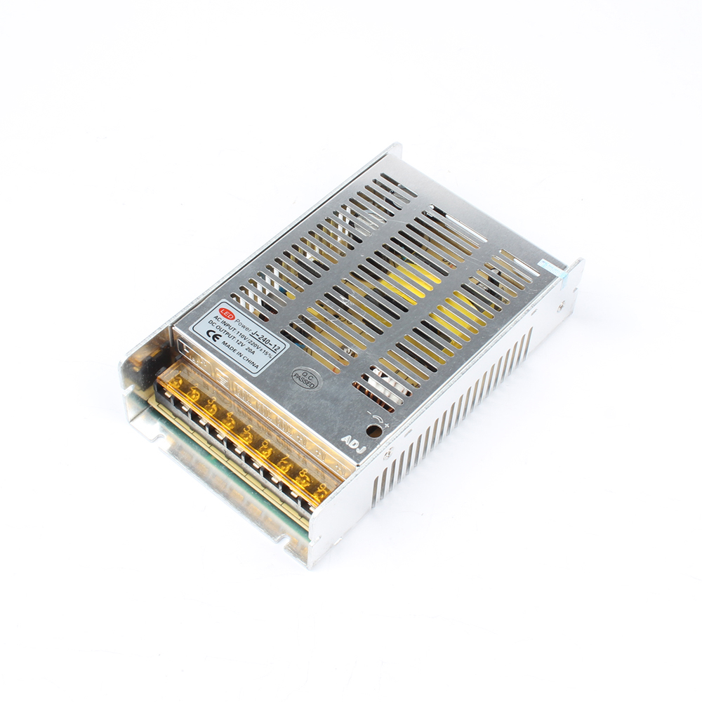 DIANQI Universal J-240-12V 20A 240W Switch Power Supply Driver Switching For LED Strip Light Display 220V other tool
